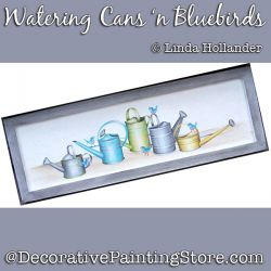 Watering Cans n Bluebirds Download - Linda Hollander