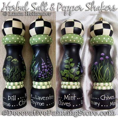 Herbal Salt and Pepper Shakers Download Painting Pattern - Linda Hollander