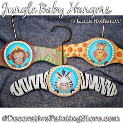 Jungle Baby Hangers Download Painting Pattern - Linda Hollander