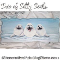 Trio of Silly Seals Plaque PDF DOWNLOAD - Linda Hollander