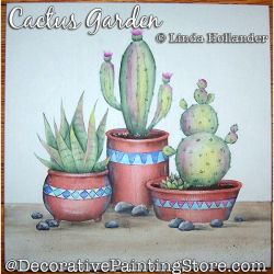 Cactus Garden Plaque Painting Pattern PDF DOWNLOAD - Linda Hollander