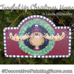 Tangled Up Christmas Moose Plaque Painting Pattern PDF DOWNLOAD - Linda Hollander