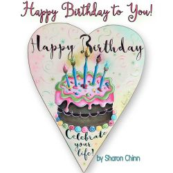 Happy Birthday Heart BY MAIL Sharon Chinn - BY DOWNLOAD