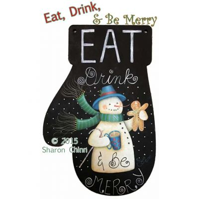 Eat-Drink-Be-Merry Mitten ePattern by Sharon Chinn