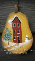 Golden Pear Ornament - Pat Jarrett - PDF Download