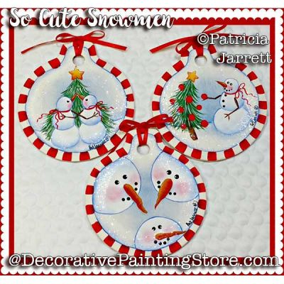 So Cute Snowmen ePattern - Pat Jarrett - PDF Download