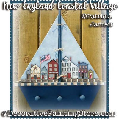 New England Coastal Village ePattern - Pat Jarrett - PDF Download