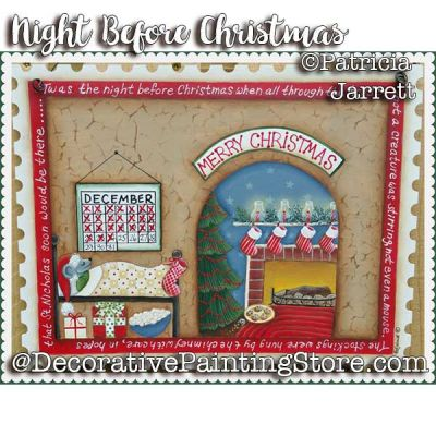 Twas the Night Before Christmas ePattern - Pat Jarrett - PDF Download