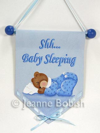 Shh... Baby Sleeping Mini Banner (Boy) PDF DOWNLOAD