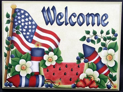 Patriotic Welcome Sign PDF DOWNLOAD