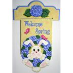 Welcome Spring Bunny Banner DOWNLOAD