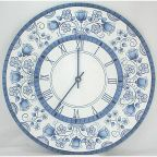 Blue Delft Floral Wall Clock DOWNLOAD