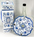 Blue Delft Floral Wine Box and Wine Glass Caddy Gift Set DOWNLOAD