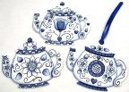 Blue Delft Floral Teapot Ornaments DOWNLOAD