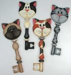 Kitty Cat Key Ornaments Pattern DOWNLOAD