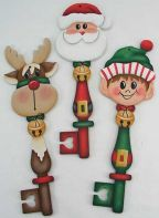 Santa and Friends Key Ornaments Pattern DOWNLOAD