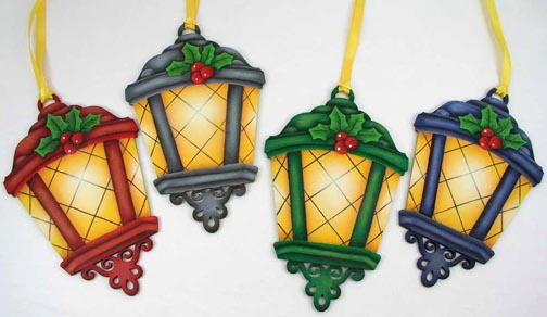 Holiday Lantern Ornaments Pattern DOWNLOAD