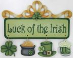 Luck of the Irish Ornaments and Banner Pattern DOWNLOAD