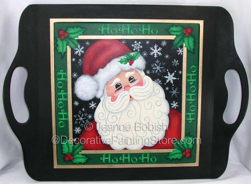HO HO Santa Tray Pattern DOWNLOAD