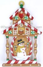 Gingerbread House Lantern Pattern - Jeanne Bobish - PDF DOWNLOAD
