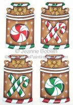Peppermint Milk Can Ornaments Pattern - Jeanne Bobish - PDF DOWNLOAD