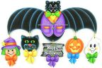 Halloween Ornaments with Bat Topper Pattern - Jeanne Bobish - PDF DOWNLOAD