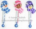 Chilly Chums Thermometer Ornaments Pattern - Jeanne Bobish - PDF DOWNLOAD