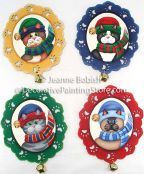 Jingle Cat Ornaments Pattern - Jeanne Bobish - PDF DOWNLOAD