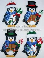 Penguins and Peppermints Ornaments Pattern - Jeanne Bobish - PDF DOWNLOAD