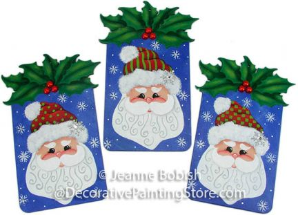 Holly Jolly Ornaments Pattern - Jeanne Bobish - PDF DOWNLOAD