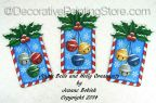Jingle Bells and Holly Ornaments Pattern - Jeanne Bobish - PDF DOWNLOAD