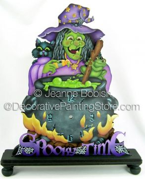 Spooky Time Clock Pattern - Jeanne Bobish - PDF DOWNLOAD