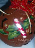 Candy Cane Christmas Bell e-Pattern - Judy Ribitch - PDF DOWNLOAD