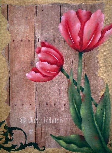 Barnyard Tulip ePattern - Judy Ribitch - PDF DOWNLOAD