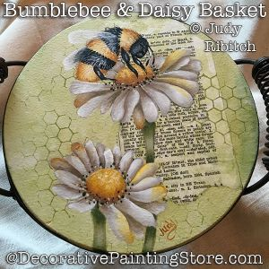 Bumblebee and Daisy Basket ePattern - Judy Ribitch - PDF DOWNLOAD