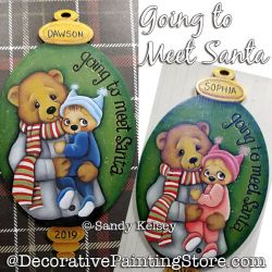 Going to Meet Santa PDF DOWNLOAD Painting Pattern - Sandy Kelsey