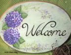 Hydrangea Welcome Plaque ePacket - Susan Kelley - PDF DOWNLOAD