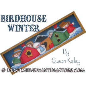 Birdhouse Winter ePacket - Susan Kelley - PDF DOWNLOAD