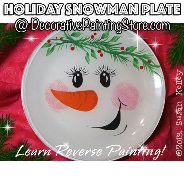 Holiday Snowman Plate ePacket - Susan Kelley - PDF DOWNLOAD