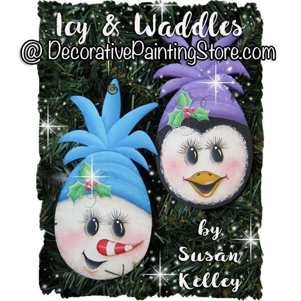 Icy and Waddles Ornaments ePacket - Susan Kelley - PDF DOWNLOAD