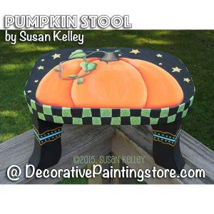 Pumpkin Stool ePacket - Susan Kelley - PDF DOWNLOAD