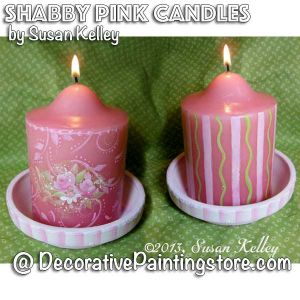Shabby Pink Candles ePacket - Susan Kelley - PDF DOWNLOAD