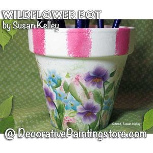 Wildflower Pot ePacket - Susan Kelley - PDF DOWNLOAD