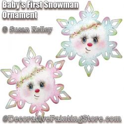 Babys First Snowman Ornament ePacket - Susan Kelley - PDF DOWNLOAD