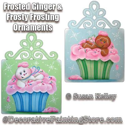 Frosted Ginger and Frosty Frosting Ornaments ePacket - Susan Kelley - PDF DOWNLOAD