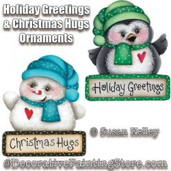 Holiday Greetings and Christmas Hugs Ornaments ePacket - Susan Kelley - PDF DOWNLOAD