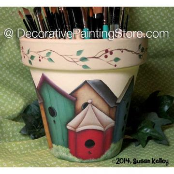 Birdhouse Flowerpot ePacket - Susan Kelley - PDF DOWNLOAD