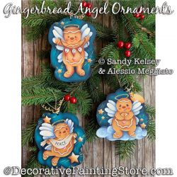 Gingerbread Angel Ornaments PDF DOWNLOAD - Sandy Kelsey and Alessio Meggiato