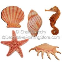 Sea Shell Ornaments Set A ePattern - Sheila Landry