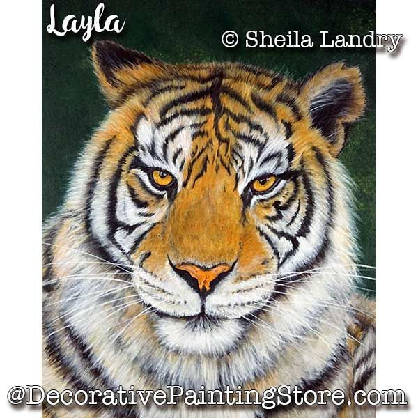 Layla Tiger ePattern - Sheila Landry - PDF DOWNLOAD